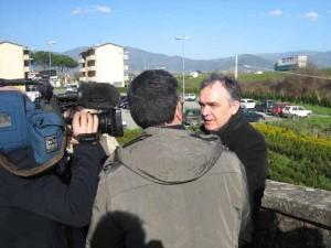 Rossi in visita intervistato