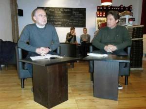 Giuseppe e Claudio Grattacaso allo Spazio [Foto Scardigli]