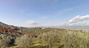 Veduta di Lucciano (Pistoia sullo sfondo)