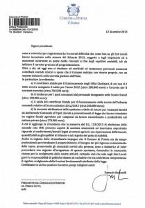 La lettera inviata a Letta