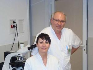 La dottoressa Natali e il dottor Lentini