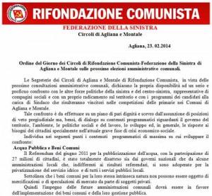 Il documento di Prc-Federazione della Sinistra