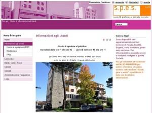 Il sito Spes
