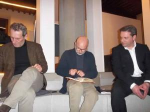 Daniele Bettarini, Antonio Pileggi e Giordano Ballini al Marino Marini