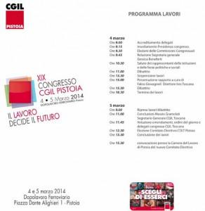 Programma del Congresso della Camera del Lavoro di Pistoia