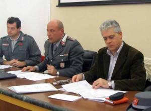 L'Assessore Rino Fragai con il Comandante della Polizia Provinciale di Pistoia, Franco Monfardini