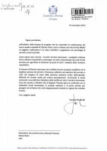 La lettera di Bertinelli a Enrico Rossi