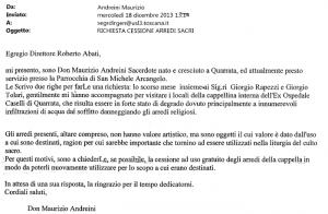 La mail di don Andreini