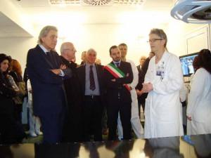 L'Assessore Marroni all'interno del reparto di radiologia