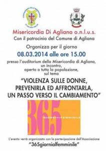 La Misericordia di Agliana ha ospitato una manifestazione contro la violenza sulle donne