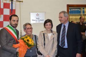 Bertinelli e Niccolai con la moglie e la figlia di Marco Vettori