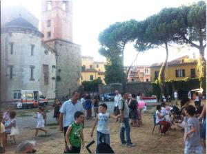 Festa di San Bartolomeo sul retro della chiesa