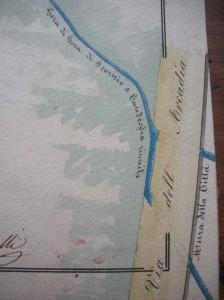 Le gore riunite si gettano in Brana, sotto l'Arcadia, dove oggi sbocca la fogna-canale con le acque miste del centro
