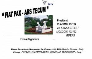 Cartolina per Putin