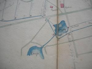 Una delle piantine disegnate dal Cavalier Martelli