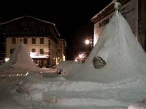 Abetone sotto la neve