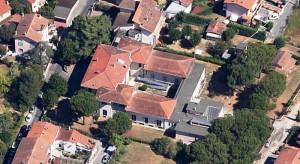 Veduta aerea dell'ospedale Caselli