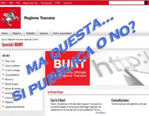 La home page del Burt, il Bollettino Ufficiale della Regione Toscana