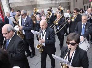 La Filarmonica Borgognoni per le vie della città
