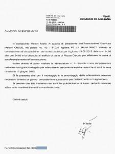 La lettera (non scarlatta) siglata «AG»
