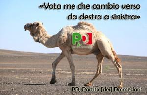 Tu non sai quanto sia bello - cambiar verso col cammello: e neppur quanto sia vario - farlo con il dromedario...