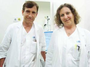 Il dottor Volpi e la dottoressa Sonnoli