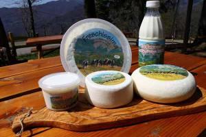 Alcuni dei prodotti delle Roncacce di Cutigliano