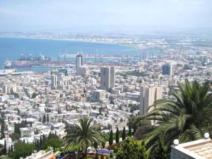 Veduta di Haifa e del suo porto