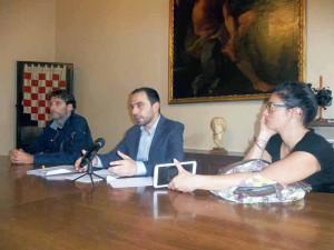 Gabriele Magni, Samuele Bertinelli e Marta Quilici in conferenza stampa