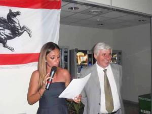 Serena Magnanensi e Roberto Abati alla festa per la prima candelina del San Jacopo
