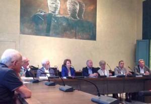 Bigongiari. Il tavolo dei relatorialla Versiliana