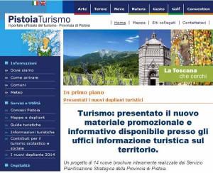Nuovi dépliants per Pistoia e provincia