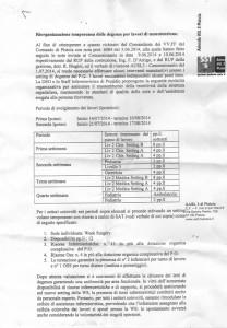 Il documento sulle manutenzioni