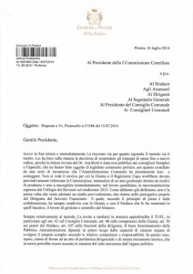La lettera dell'Assessore Belliti