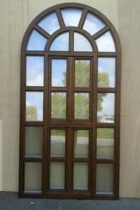 Una delle finestre Peruzzi per la Natività di Betlemme