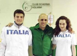 Lorenzo Francella e Matilde Biagiotti con Agostino Sanacore