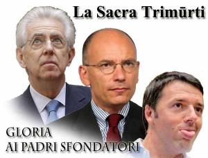 Monti, Letta, Renzi: tre governi, tre disastri