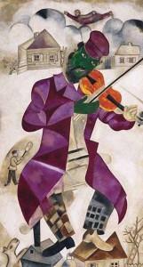 Marc Chagall, Violinista verde (1923)