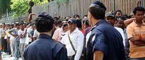 Migranti e polizia
