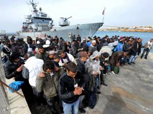 Immigrati allo sbarco
