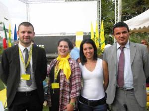 Gabriella Michelozzi con il Direttore di Coldiretti Pistoia (a destra)
