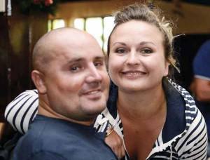 Gianmichele Gangale con Lidia, la sua fidanzata