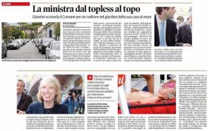 Il Ministro Giannini preso di mira sul Tirreno