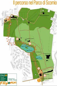 La tavola del percorso del parco