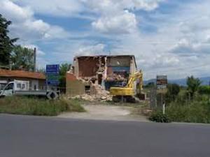 Il punto in cui ci sarà la rotatoria a Casini