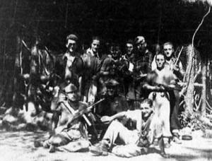 Una squadra di partigiani pistoiesi