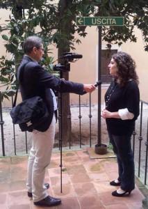 Ceccarelli di Toscana Tv intervista Margherita Semplici