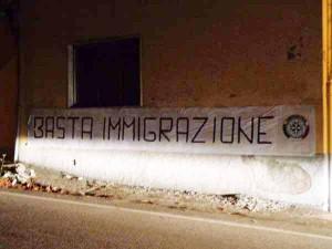 Le Piastre. Basta immigrazione. 2