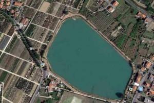 Vista aerea del bacino