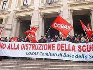 Manifestazione dei Cobas-Scuola